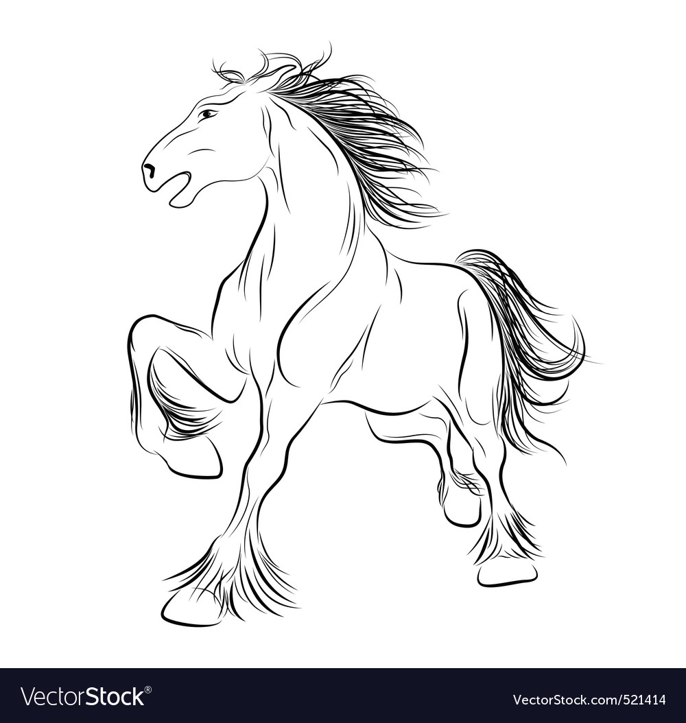 Image a horse tattoo vector