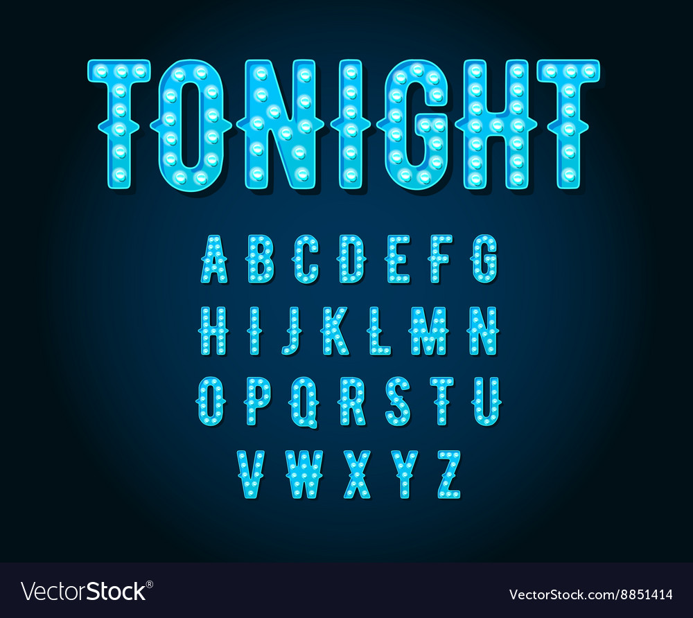 Neon casino or broadway signs style light bulb vector