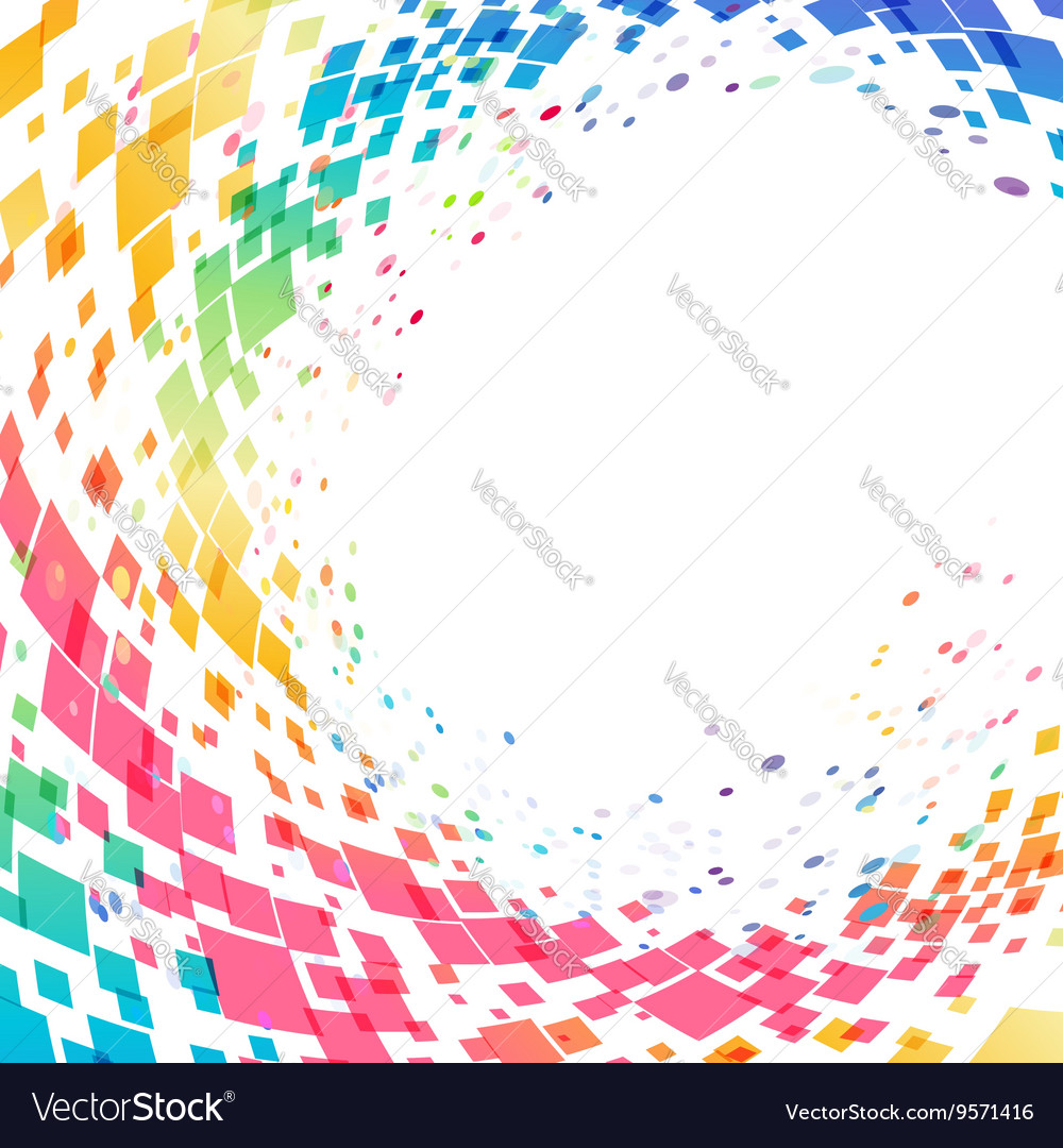 Abstract multicolored circle background vector