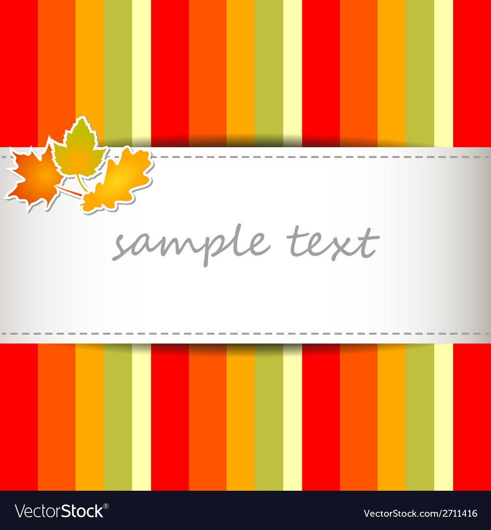 Striped autumn background vector