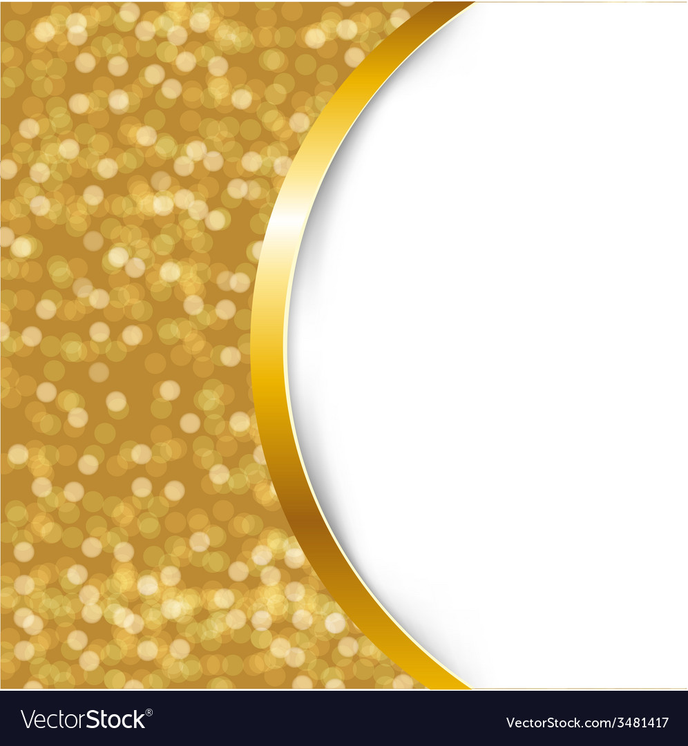 Golden card with ribbon vector