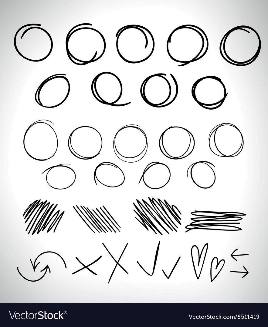 Highlight circles and elements vector