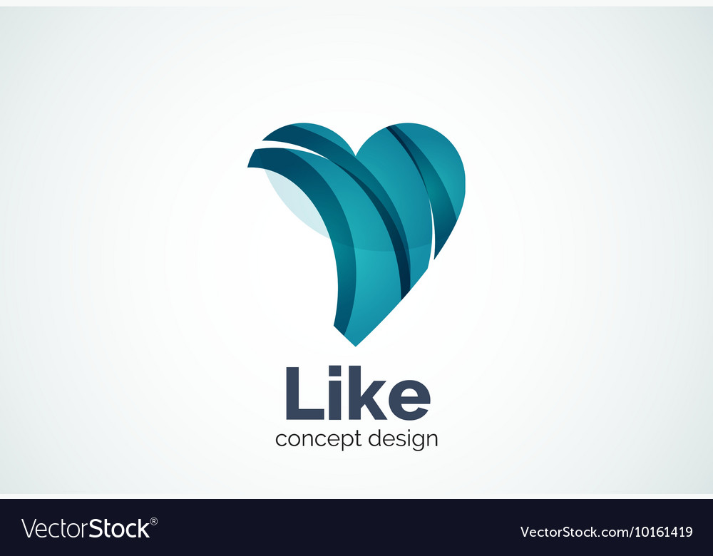 Love heart logo template vector