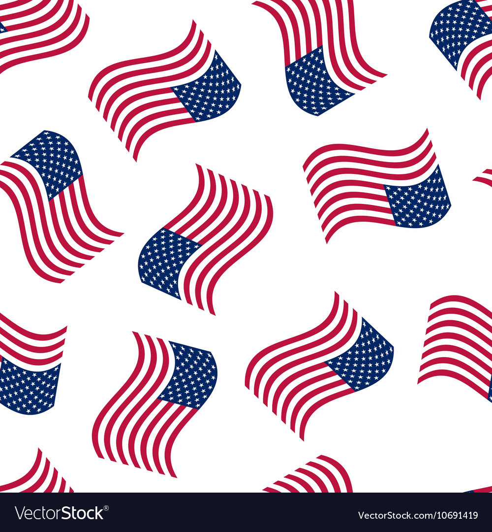 Seamless background with the american flag vector