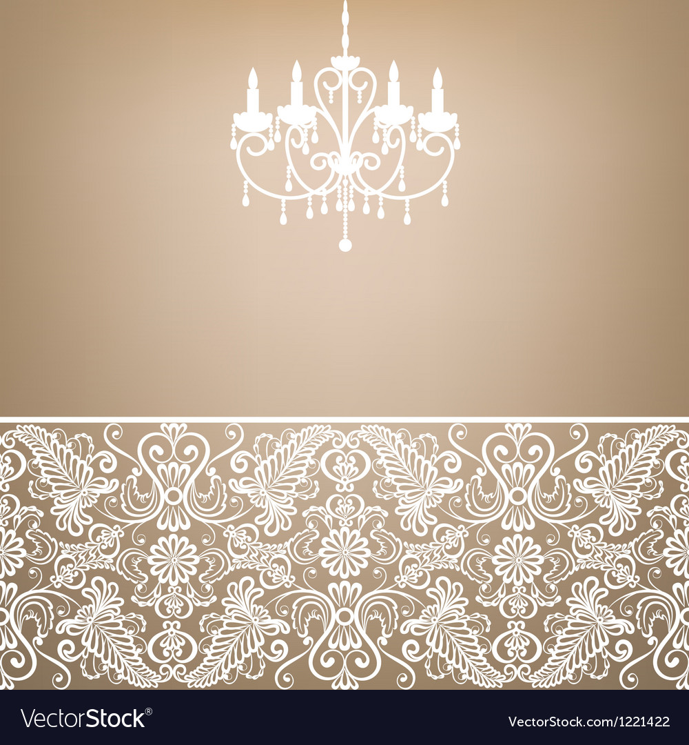 Antique chandelier vector