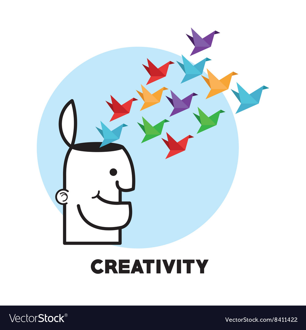 Graphic design of creativiy vector