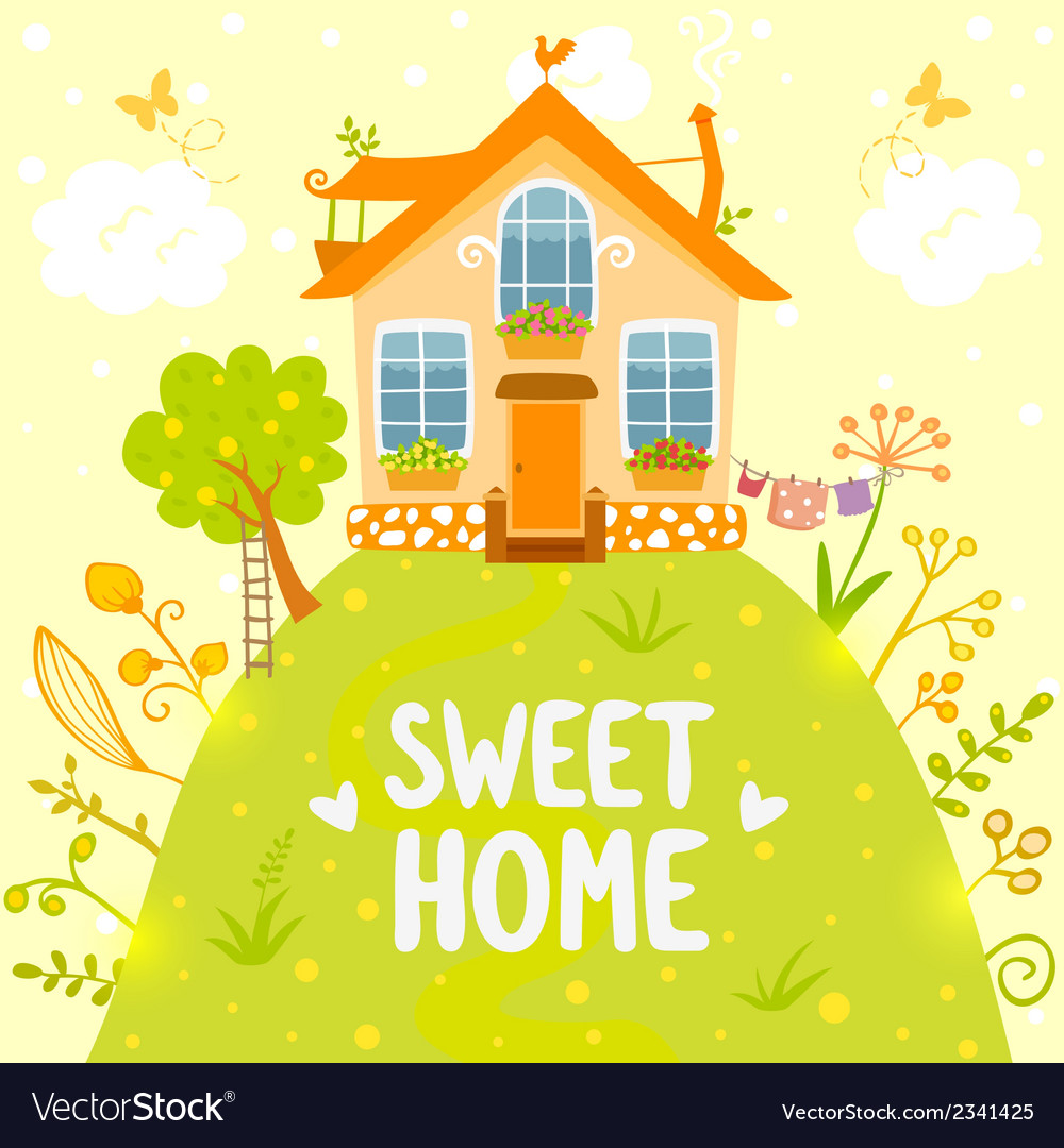 Sweet home vector
