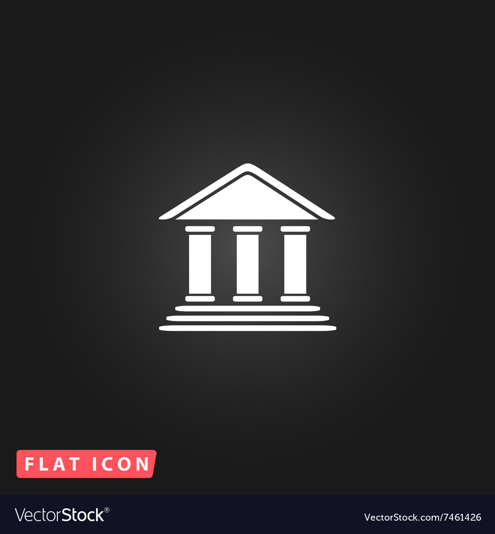 Bank flat icon vector