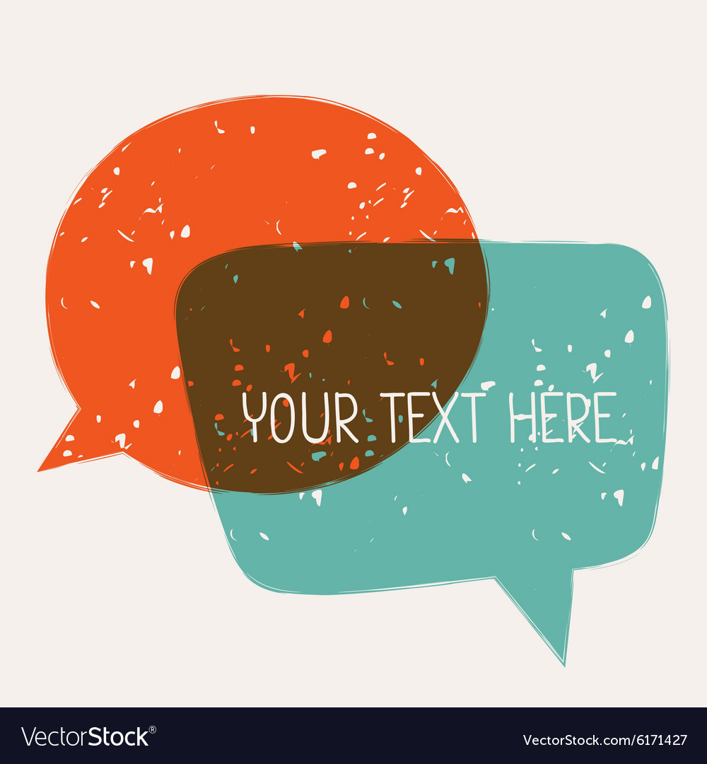 Background with abstract retro grunge speech vector