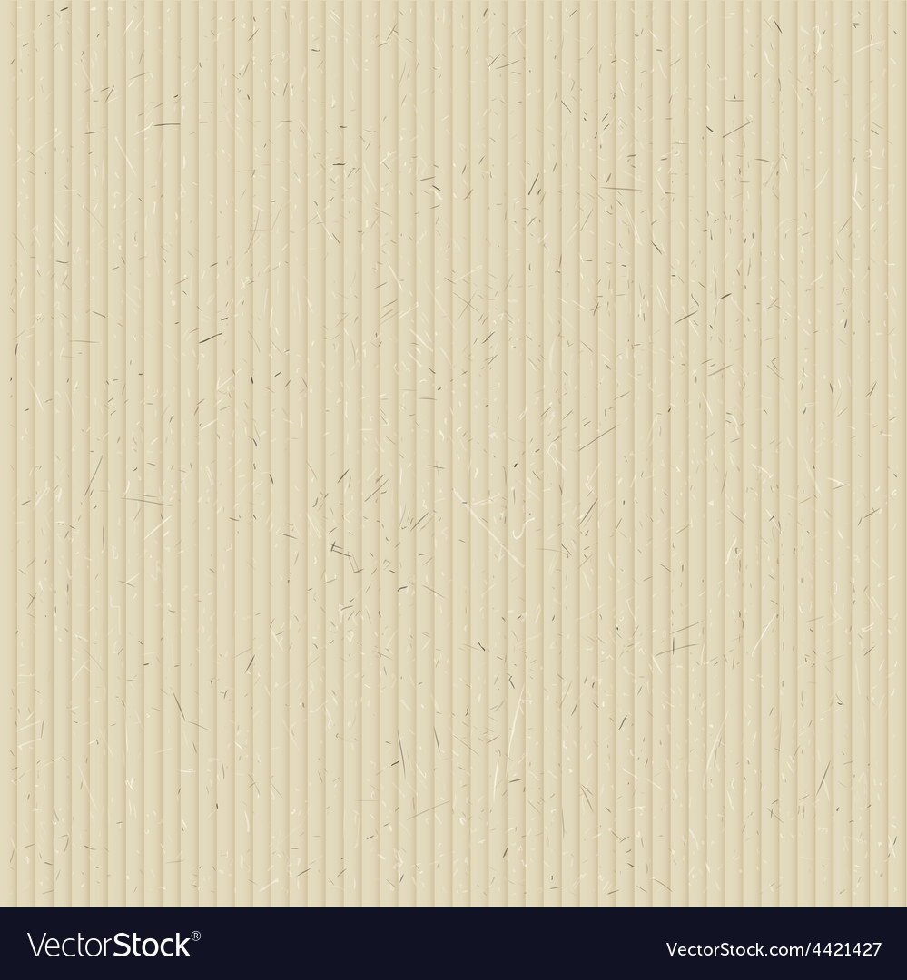 Texture of corrugated cardboard vector