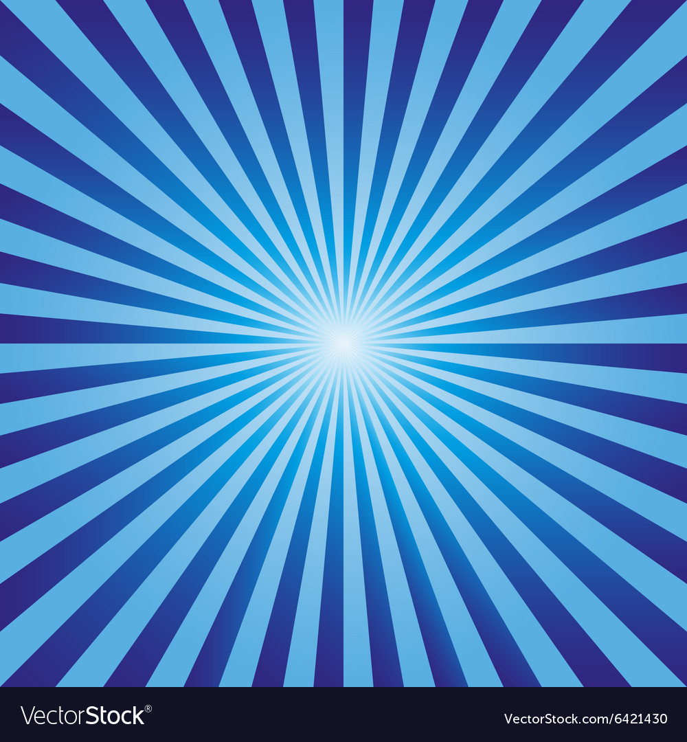 Vintage abstract background explosion blue rays ve vector