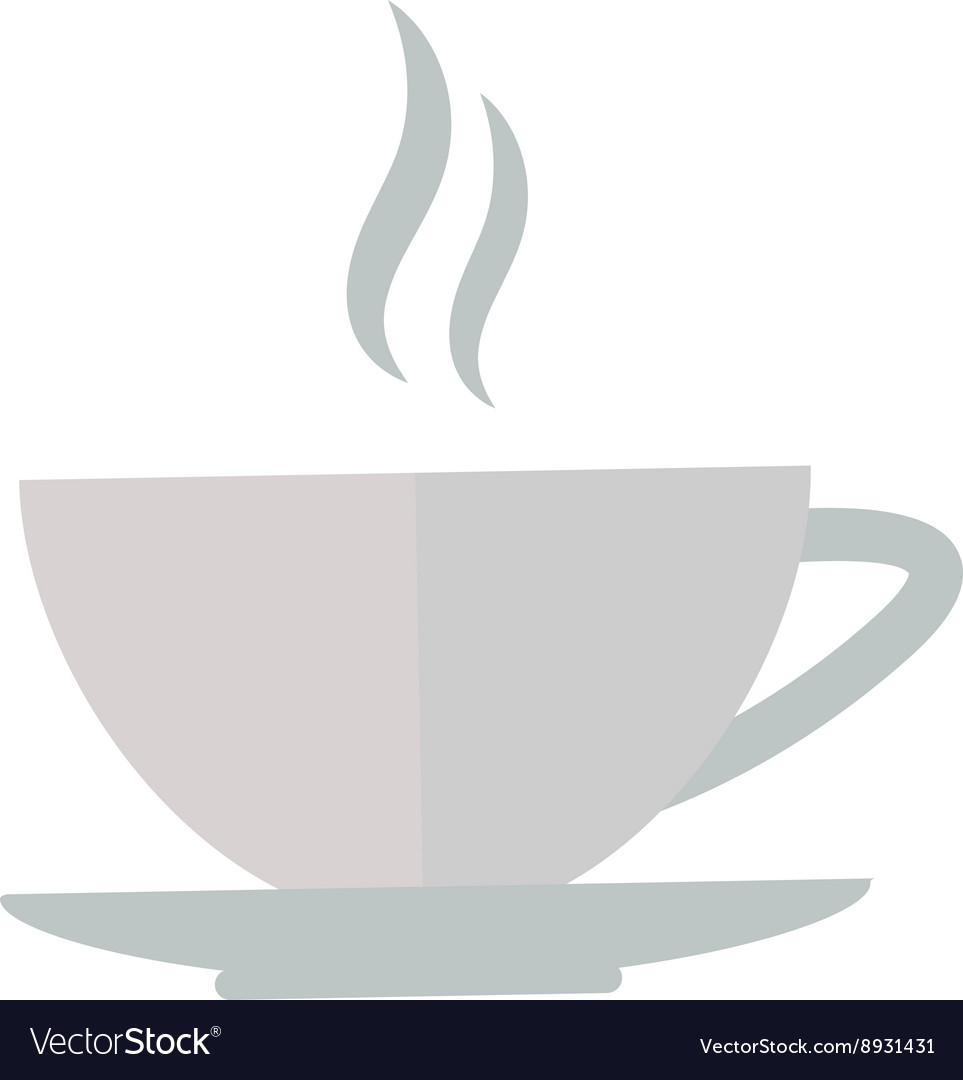 Cup coffe front view vector