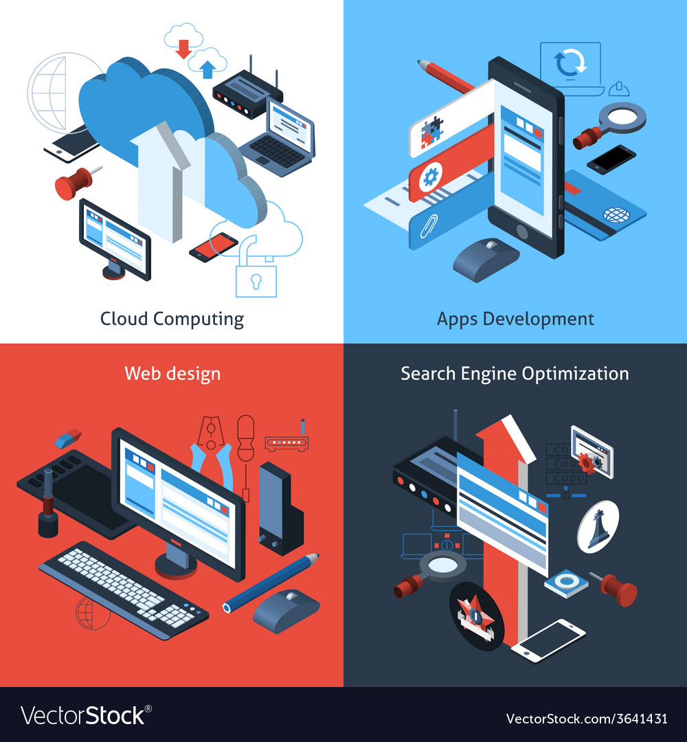 Isometric computing set vector