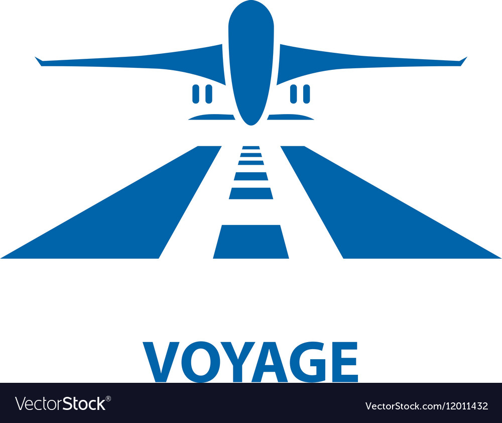 Air travel logo vector