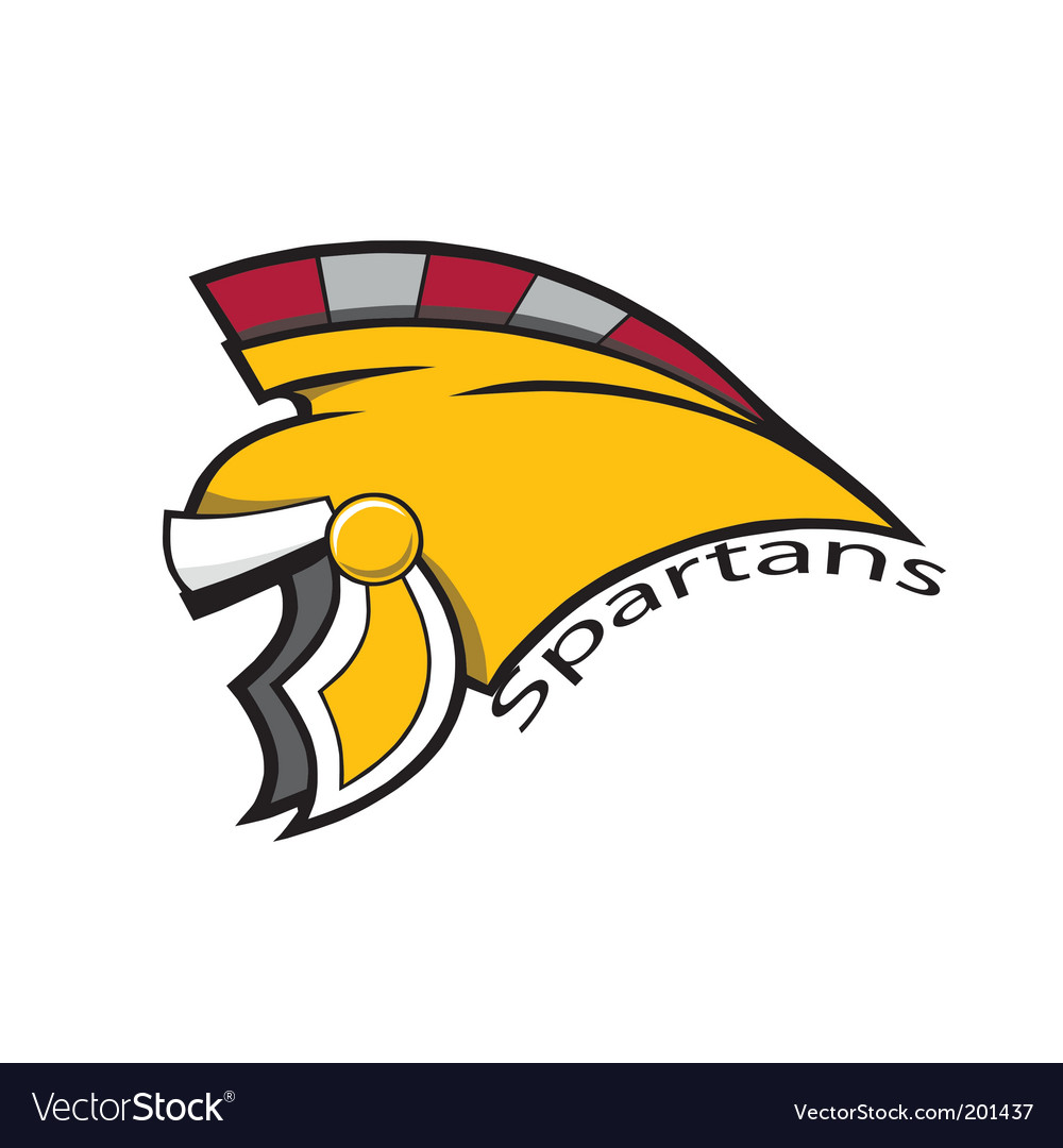 Spartans helmet vector