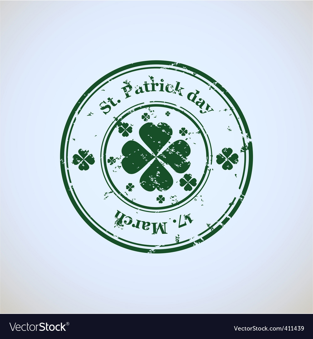 St patricks day stamp vector