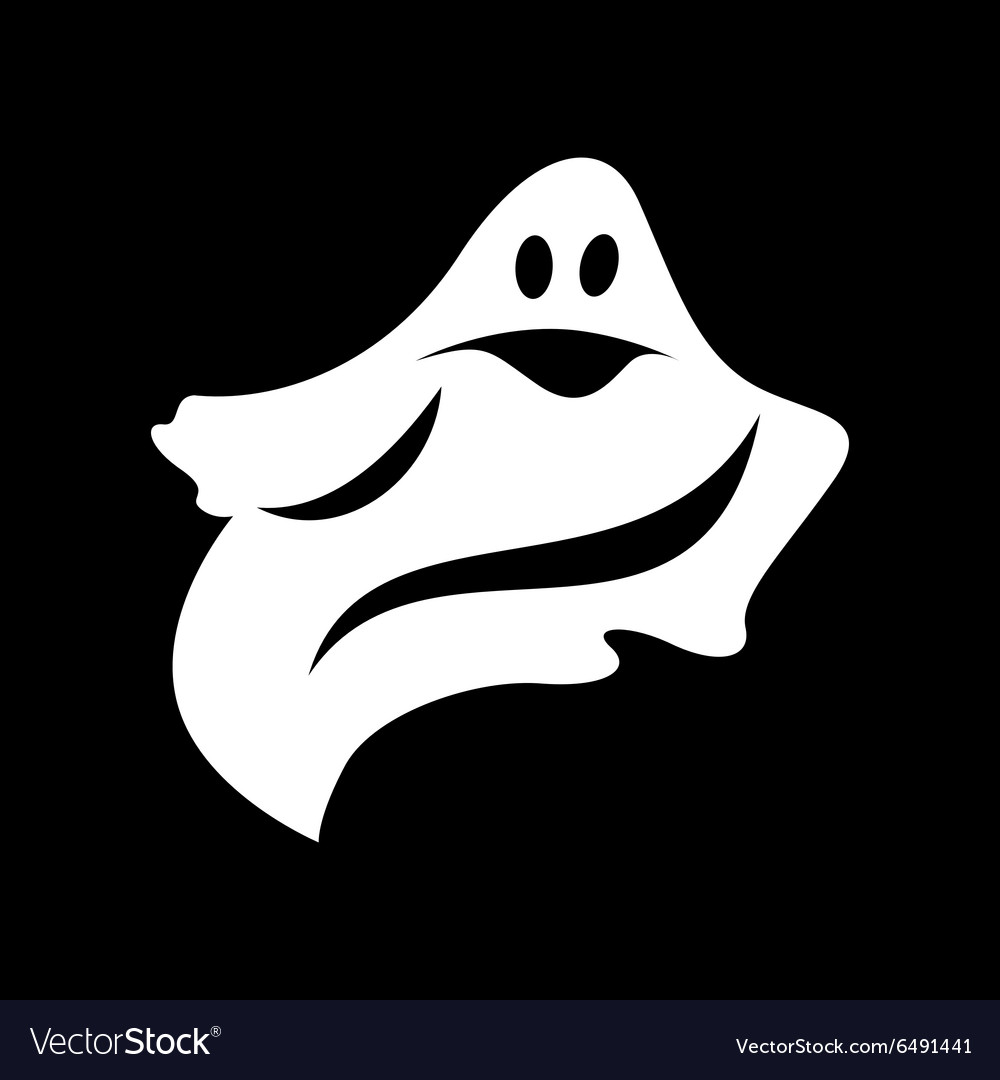 Ghost simple icon vector