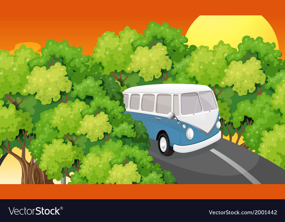 A bus travelling vector