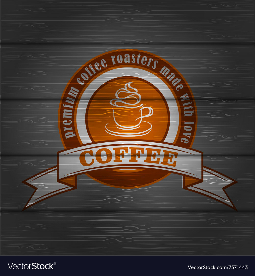 Coffee logo emblem retro design template vector