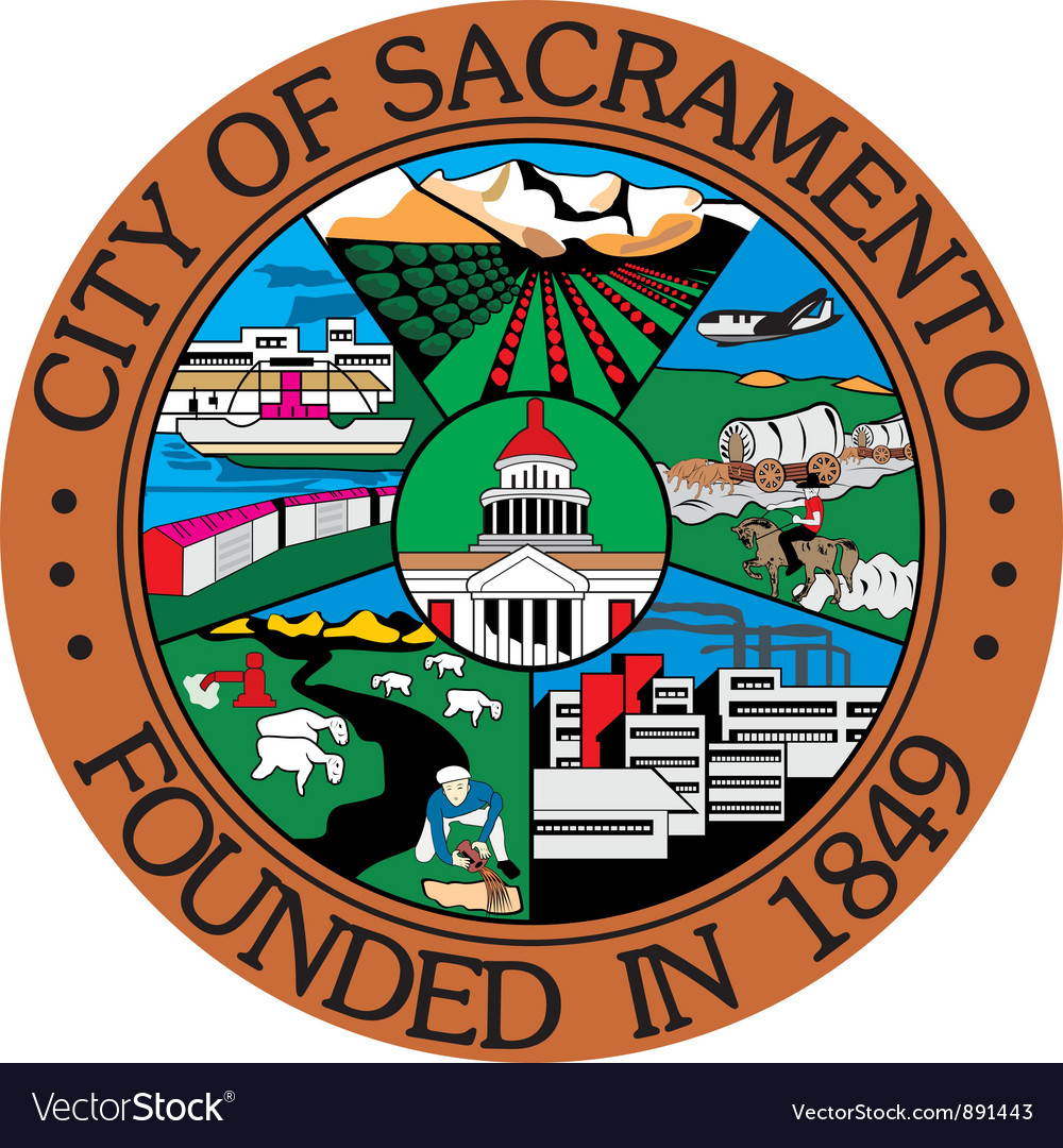 Sacramento city seal vector