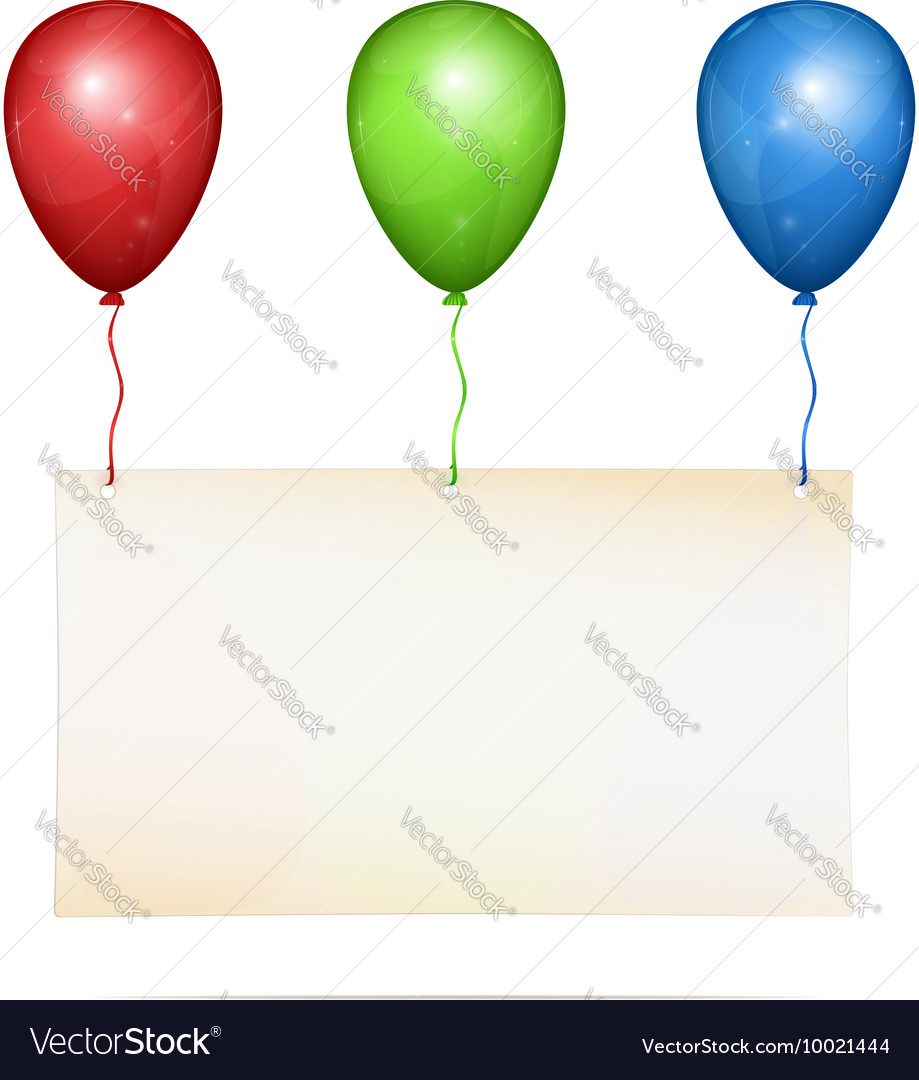 Greeting card on balloons vector