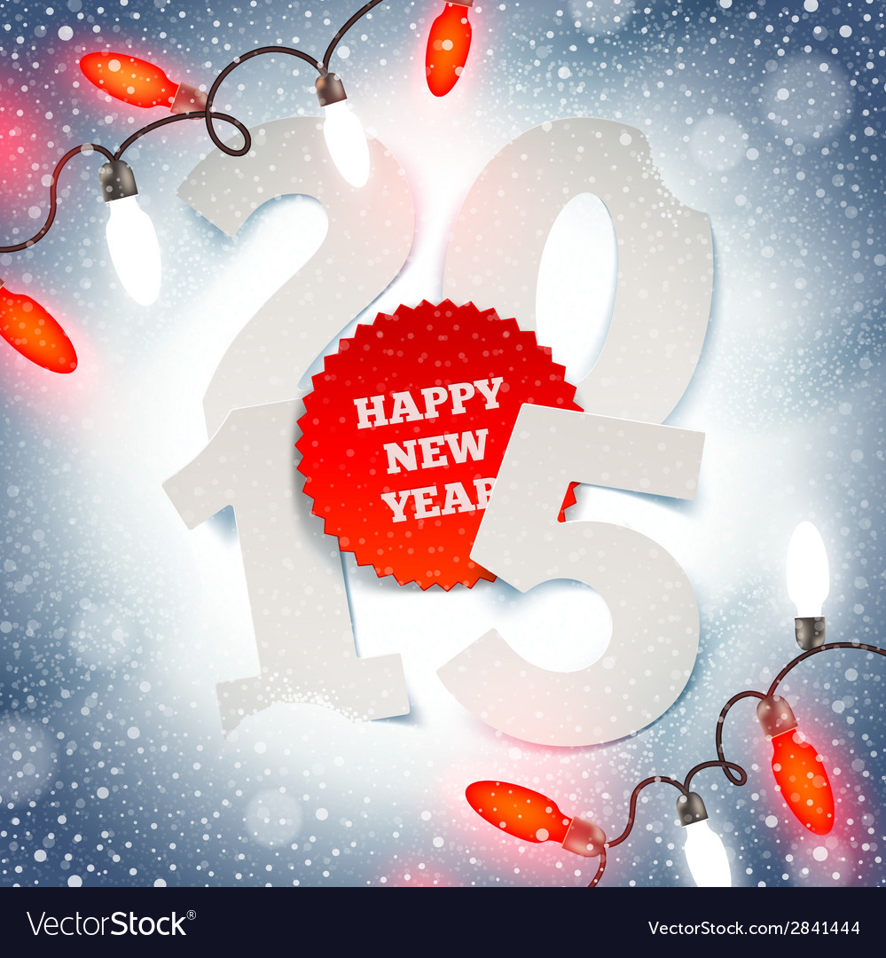 New years greeting on a snow vector