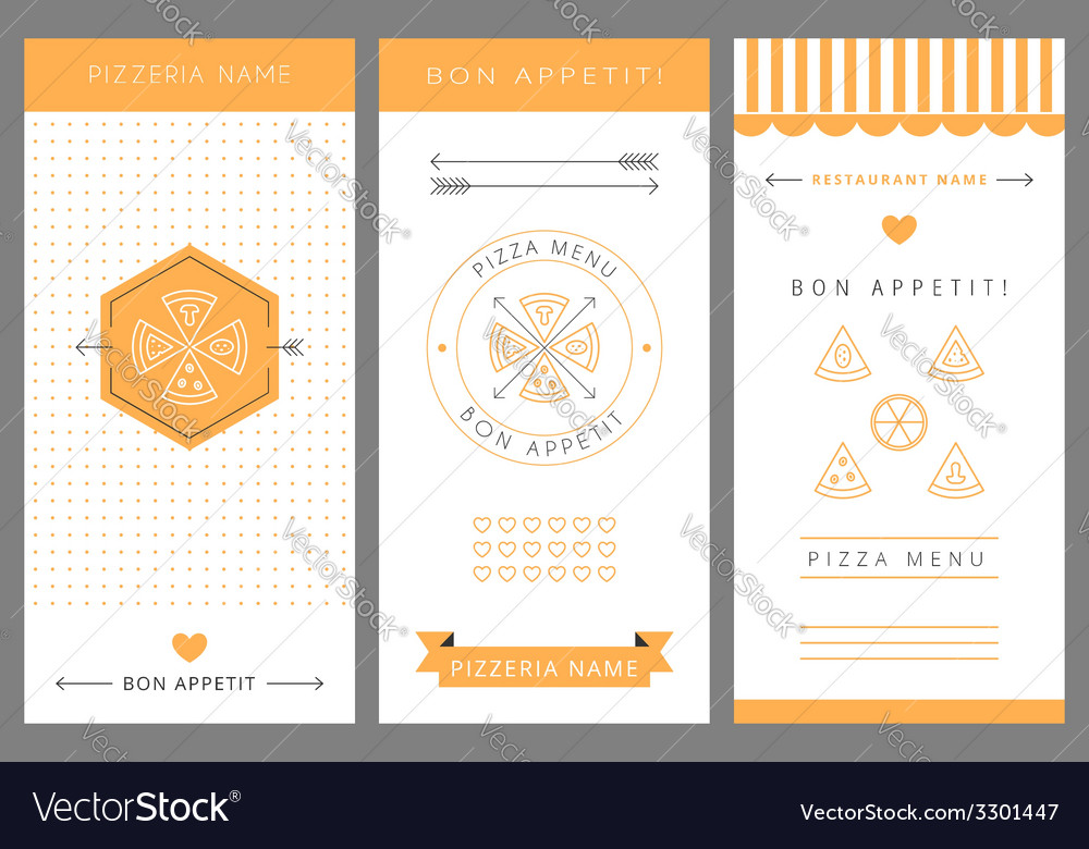 Design menu pizza vector