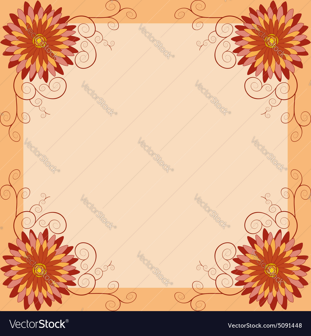 Floral vintage background invitation greeting card vector