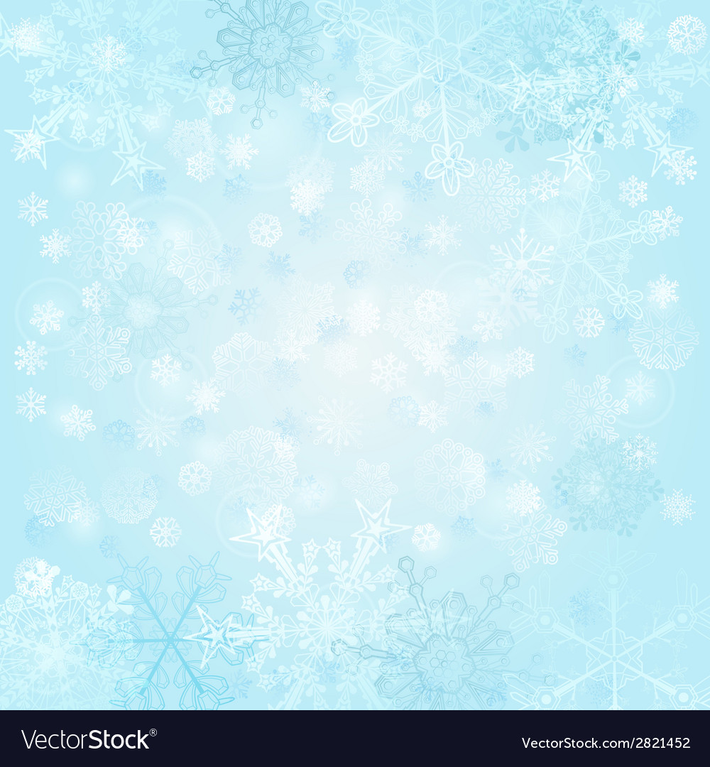 Background of snowflakes vector