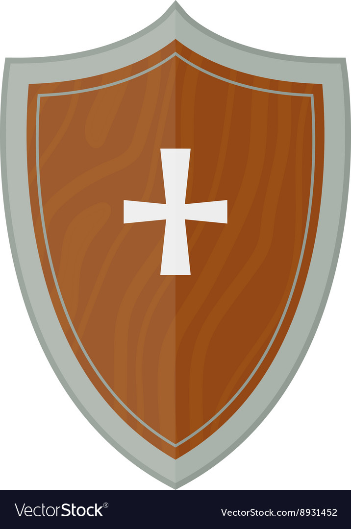 Knight shield vector