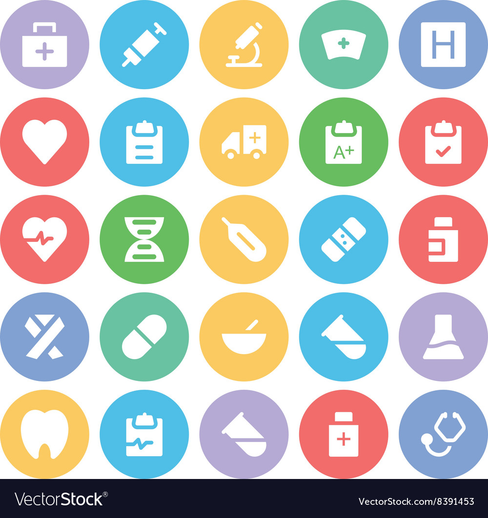 Health icons 1 vector