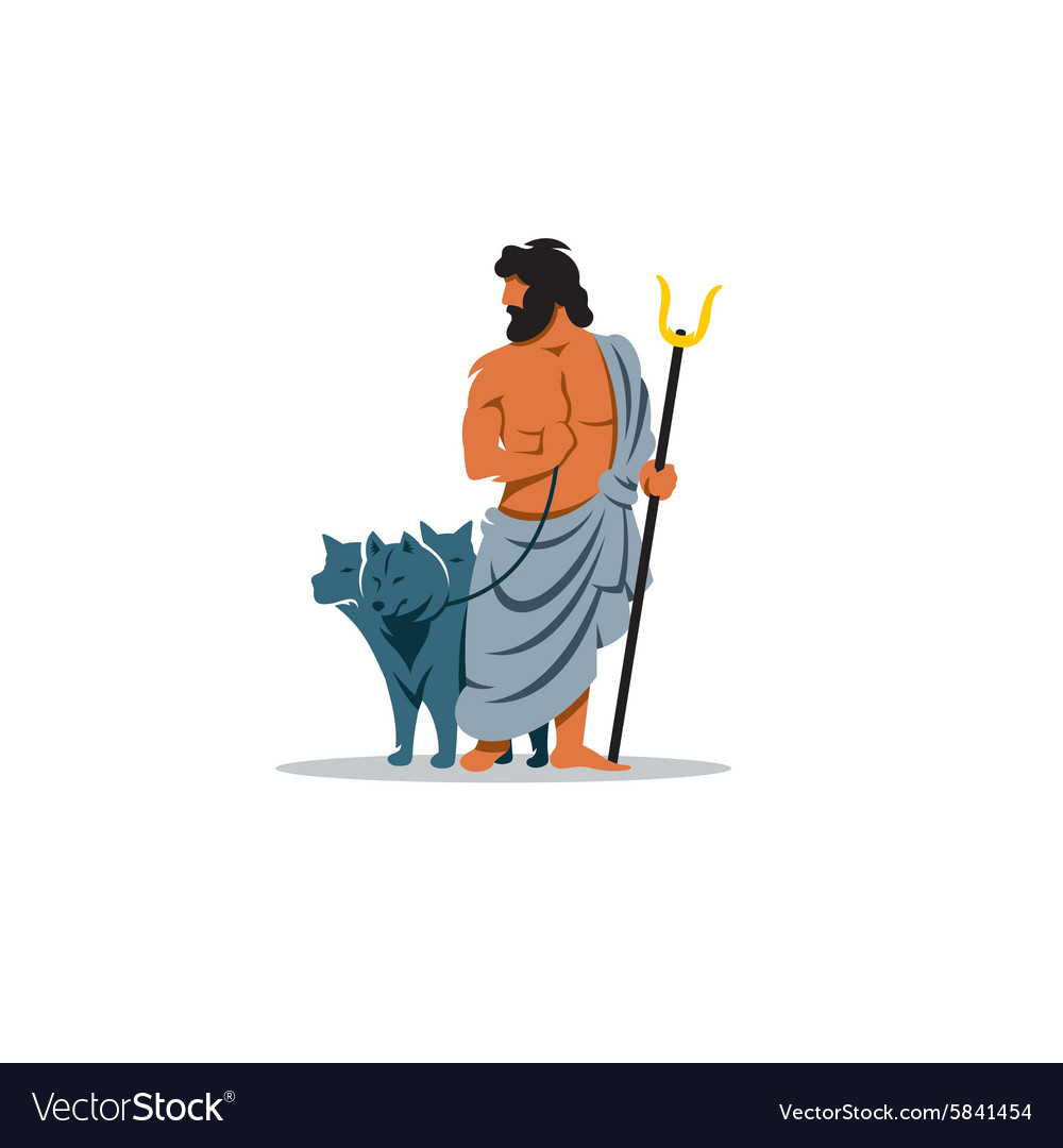 Hades sign mythological greek god of the dead vector
