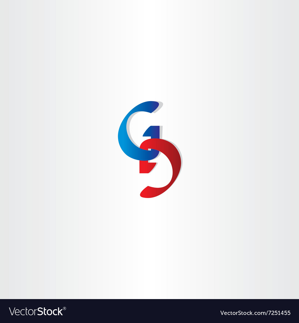 Letter g and d logo icon element vector