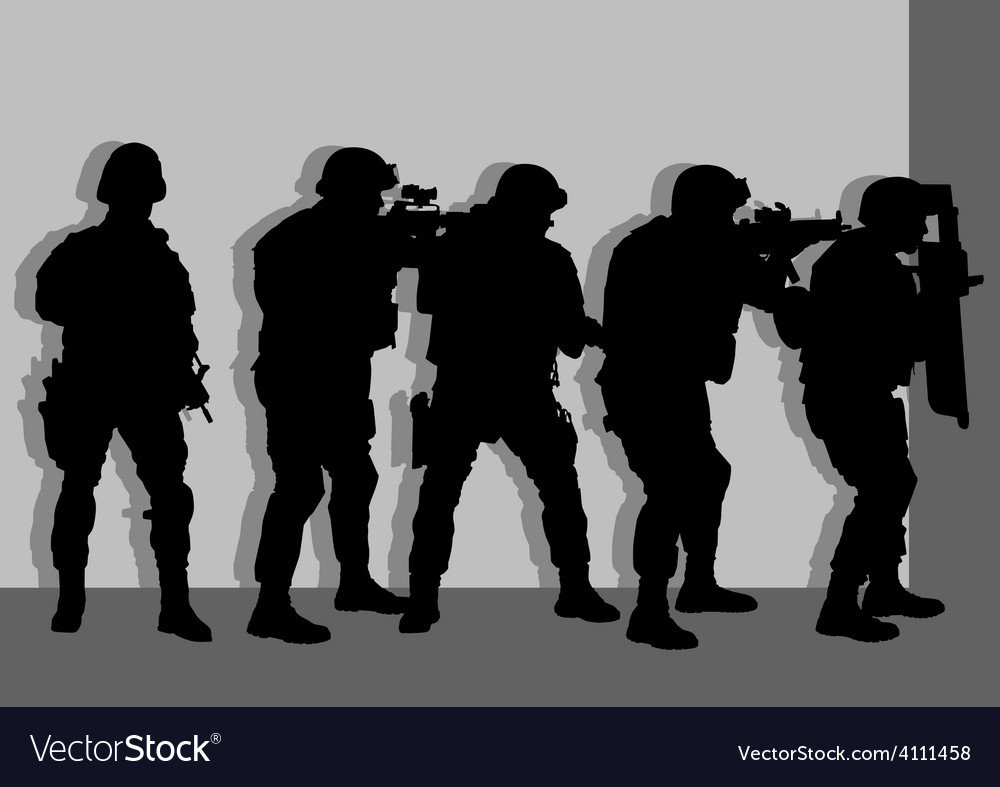 Anti terror armed forces vector