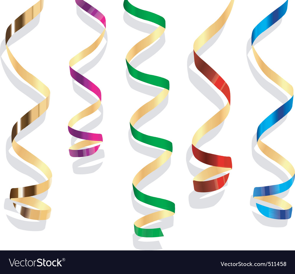 Party streamers vector