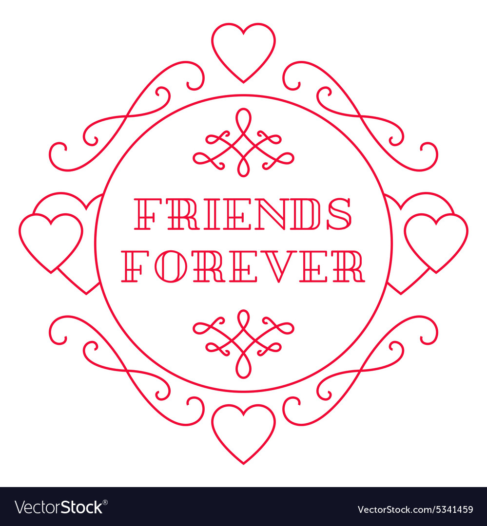 Happy friendship day elegant beautiful card design vector