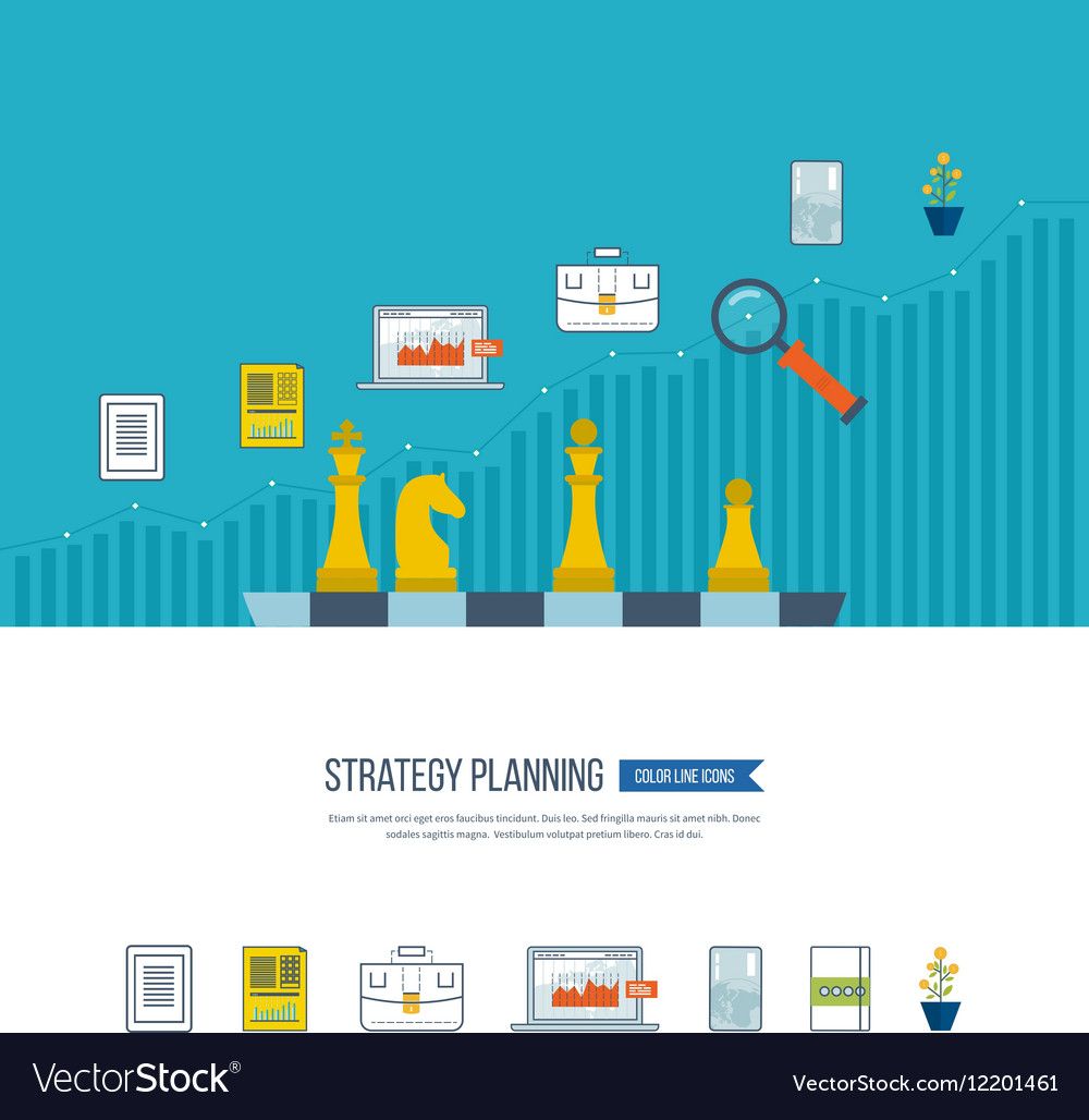Planning strategy concept investment growth vector