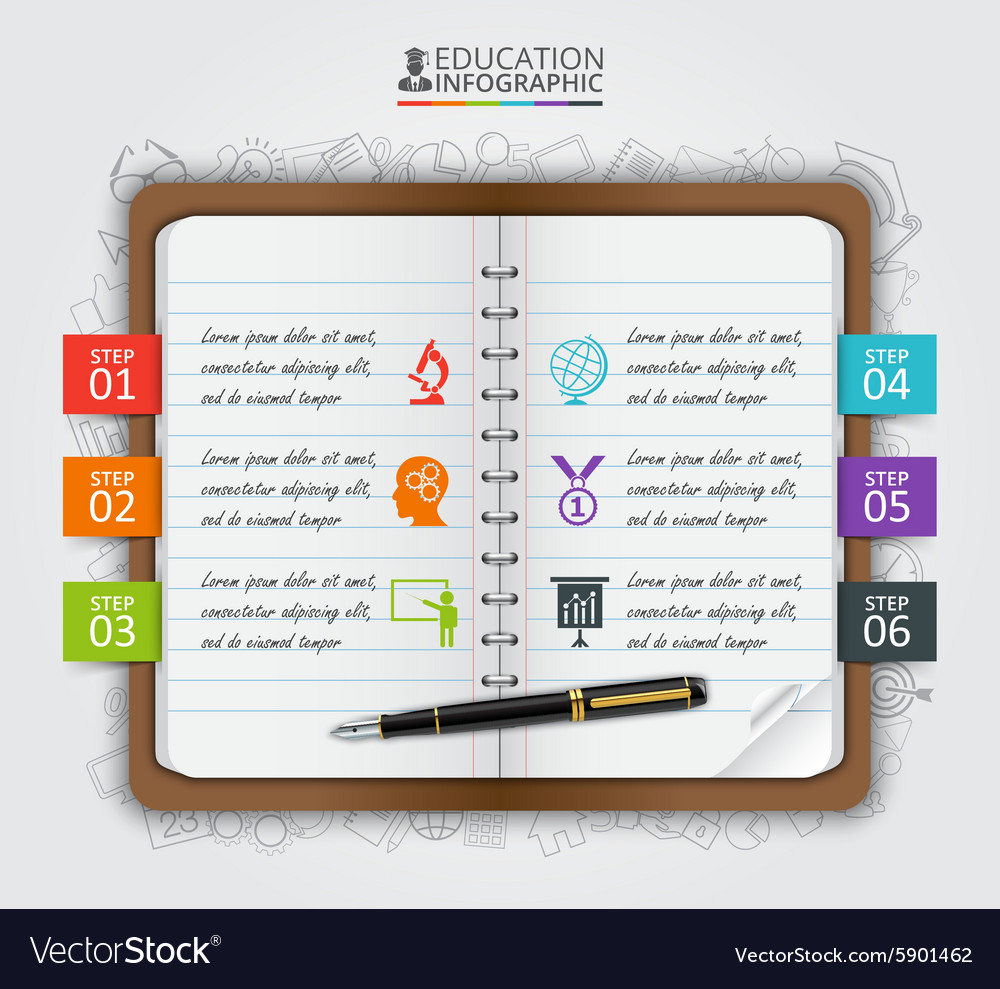 Note education infographic vector