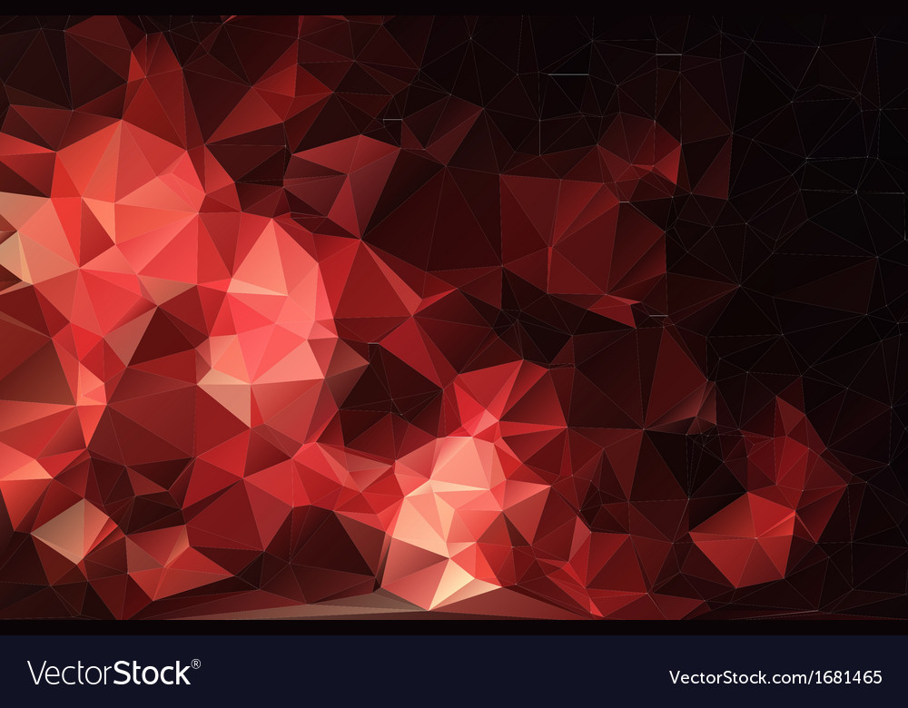Red black abstract background polygon vector