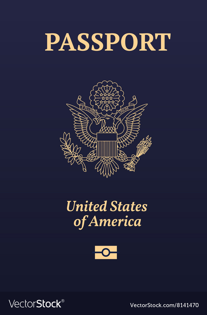 Us passport vector