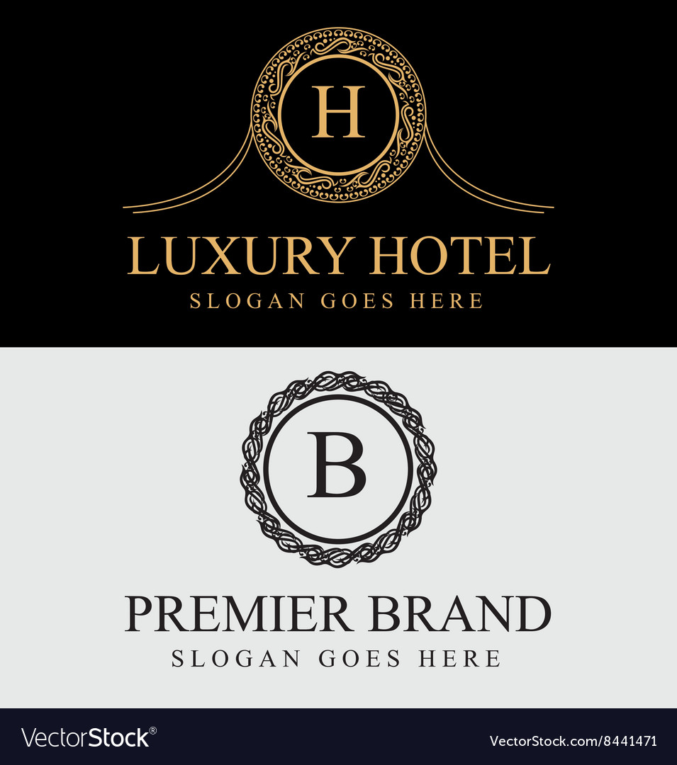 Royal luxury logos vector