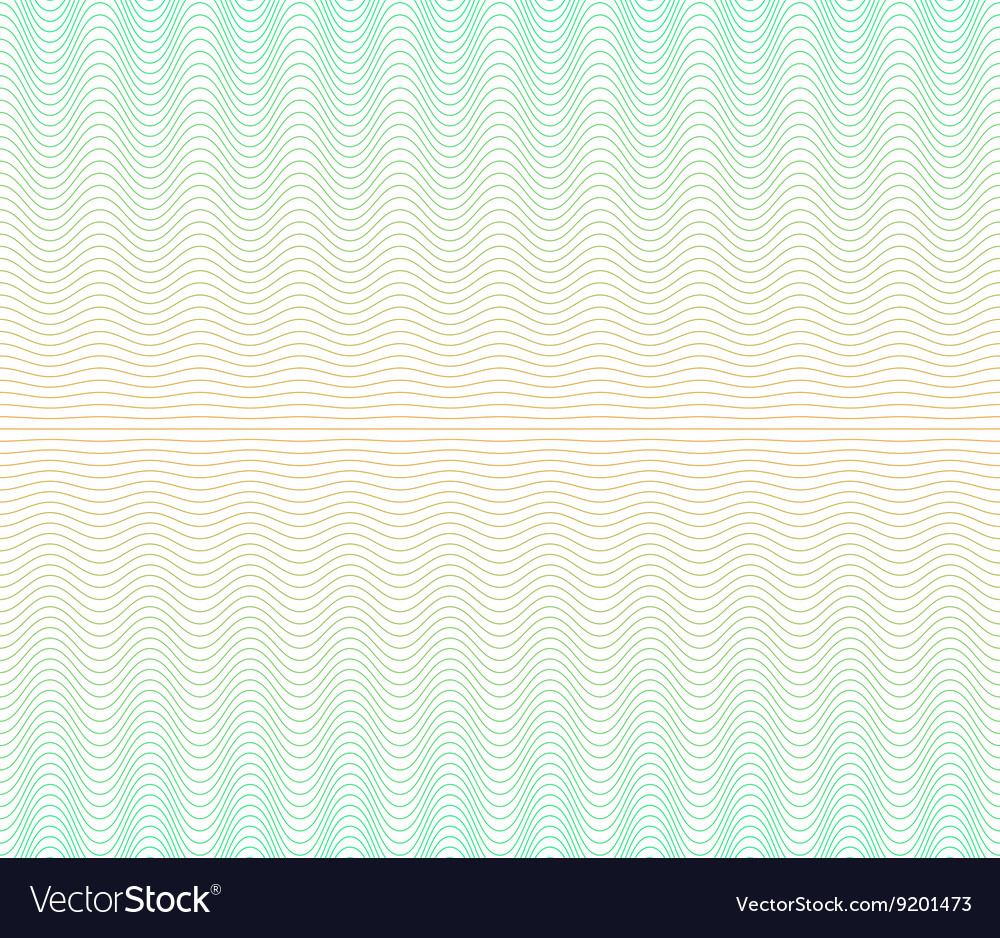 Color gradient background with waves guilloche vector