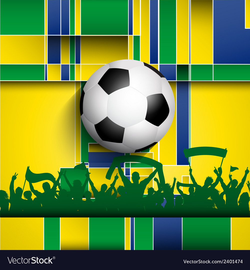 Football soccer crowd on an abstract background vector