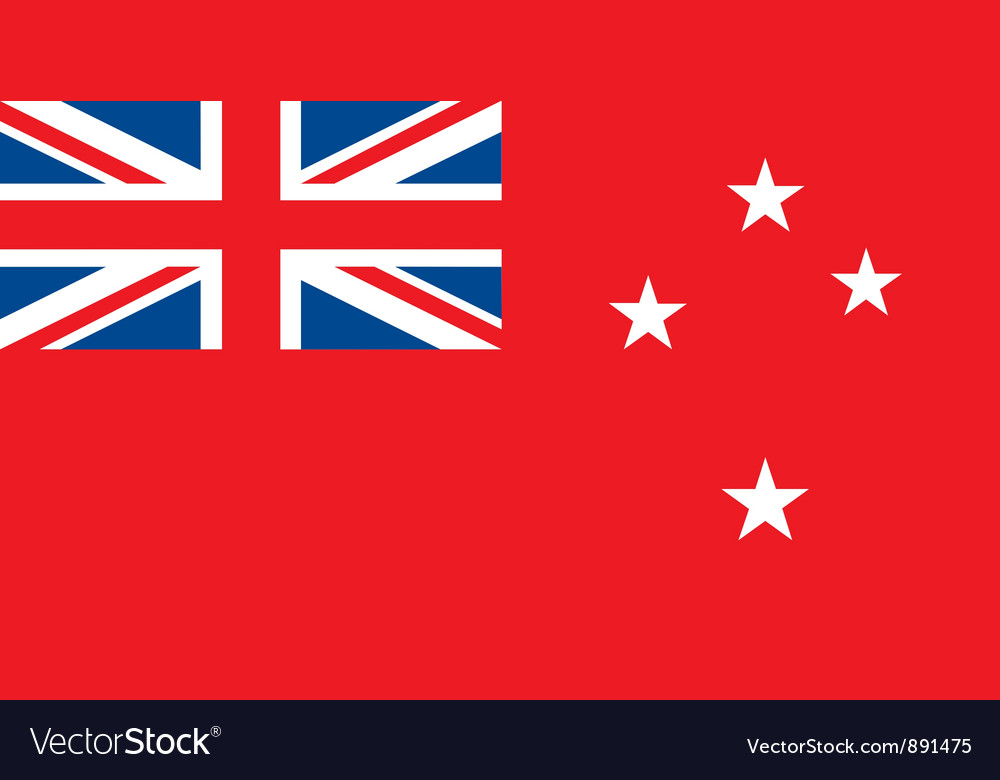 New zealand red ensign vector