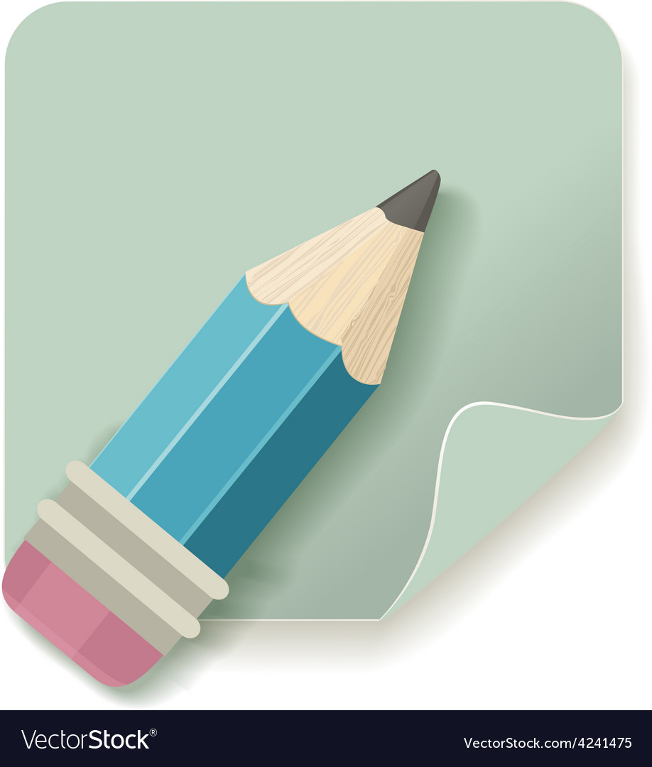 Pencil retro icon vector
