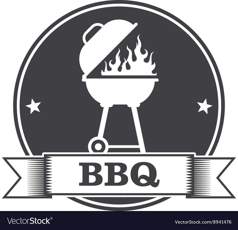 Barbecue bbq and grill party stamp vector