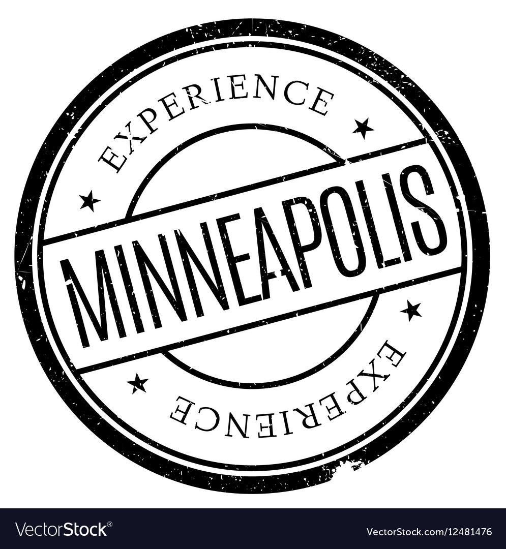 Minneapolis stamp rubber grunge vector