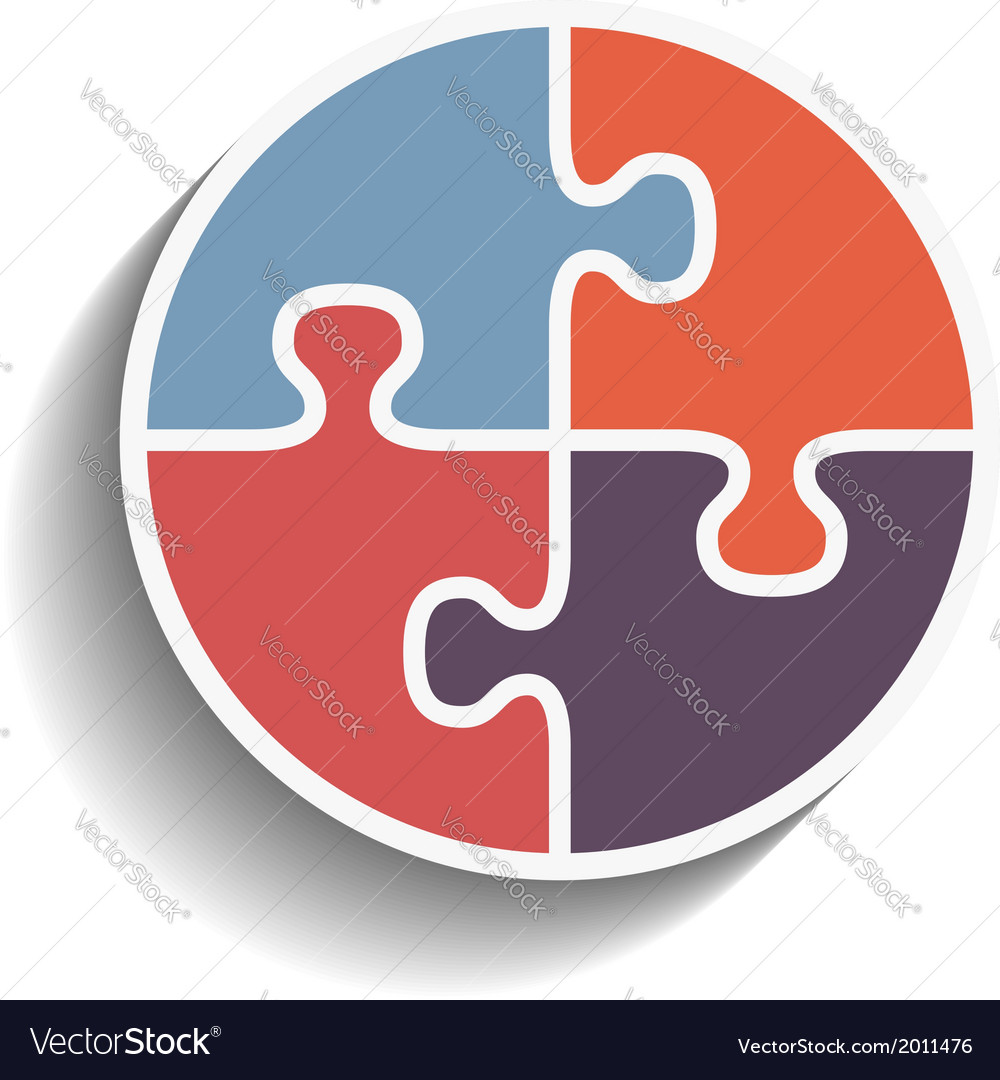 Puzzle circle vector