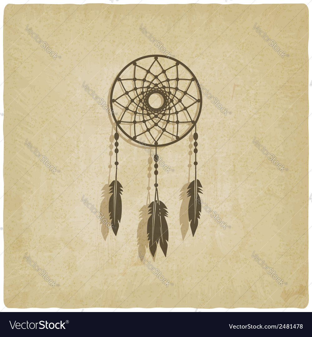 Dreamcatcher old background vector