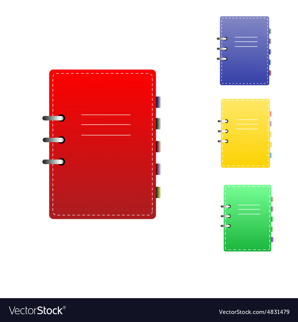 Work book vector
